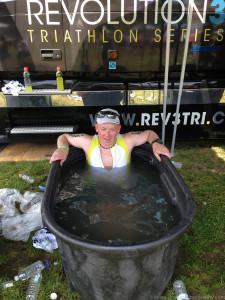 Nothing like an post-race ice bath! Ahhh!