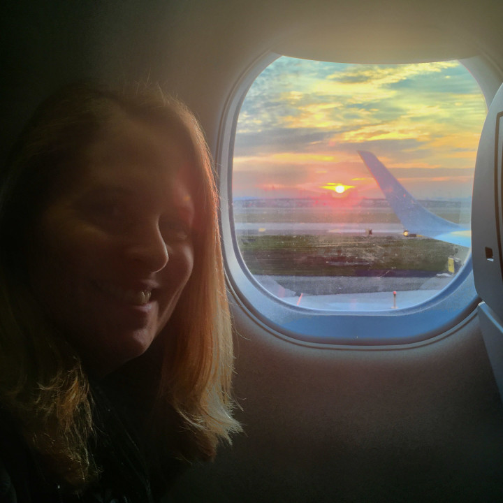 Sunrise Take-Off from EWR