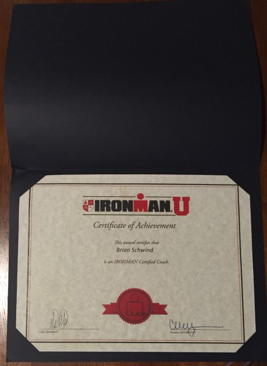 ronman University Coaching Certificate