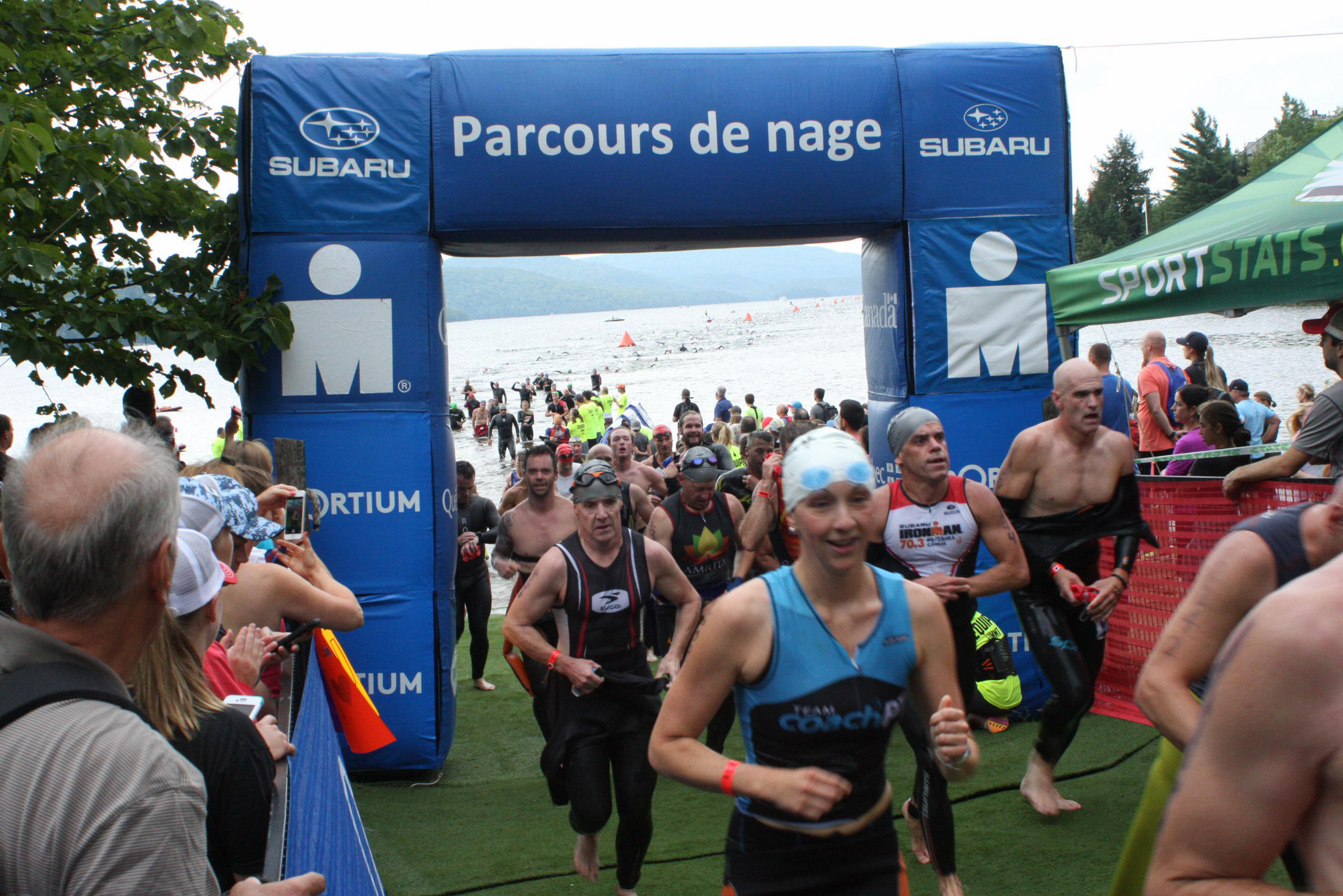 Ironman Mont-Tremblant 2016 - Swim exit. Only swim picture I got.